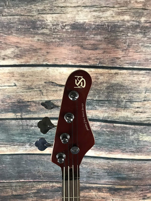 KSD Electric Bass Used Ken Smith Design Right Handed  KSD 704  Red Electric Jazz Bass