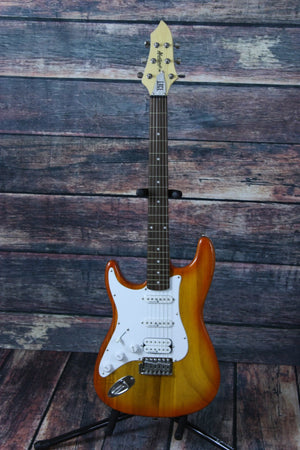 Lace electric guitar Lace Left Handed Huntington Electric Guitar- Trans Amber