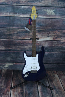 Lace electric guitar Lace Left Handed Huntington Electric Guitar- Trans Blue
