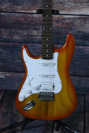 Lace electric guitar Trans Amber guitar only Lace Left Handed Huntington Electric Guitar- Trans Amber