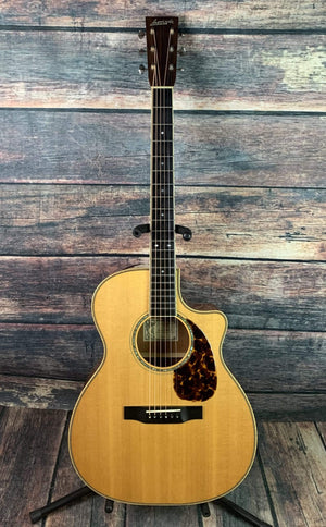 Larrivee Acoustic Guitar Used Larrivee 2003 OMV-50 Orchestra Body Acoustic Electric Guitar with Case