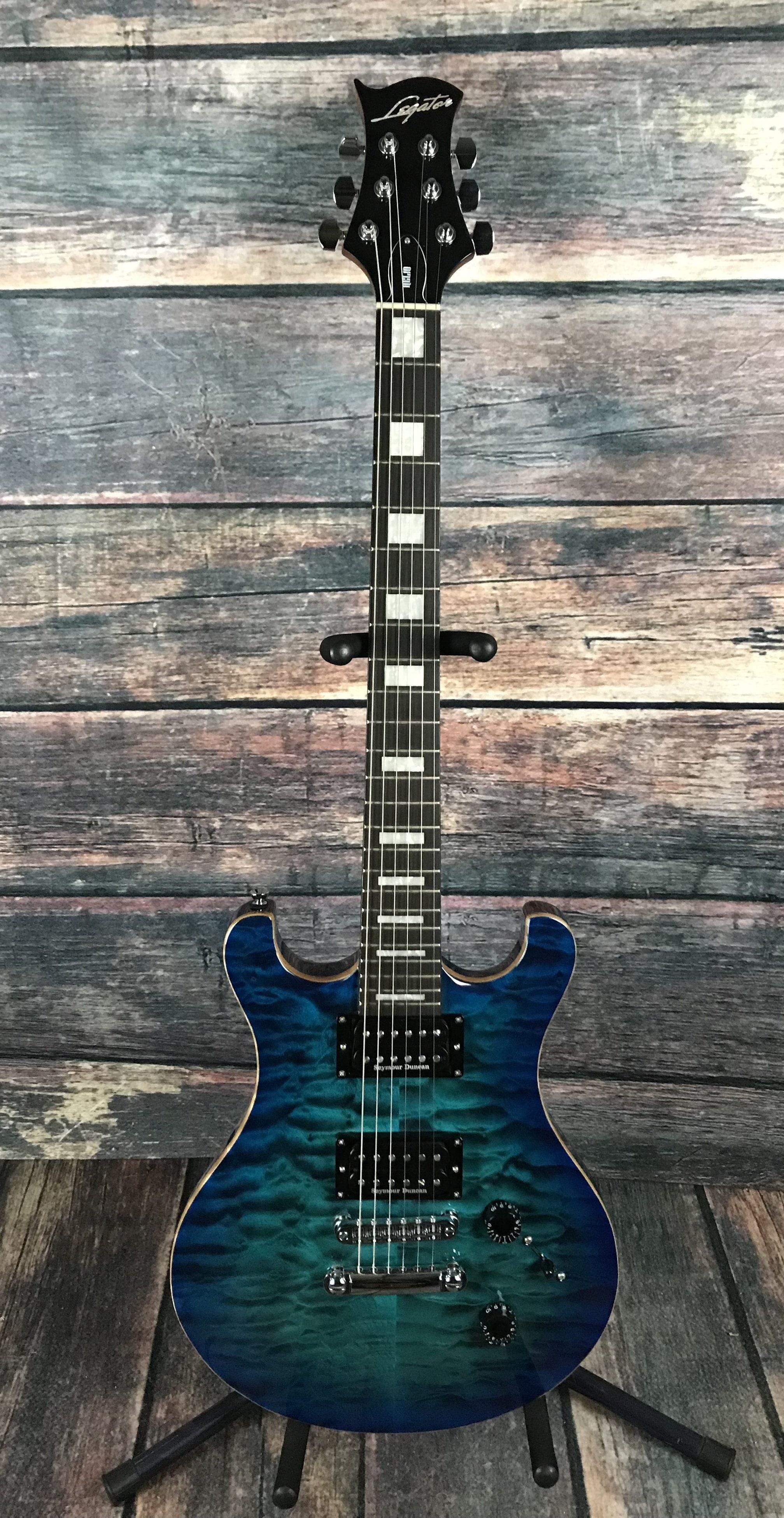 used legator 2015 usa made dc 400 double cutaway electric guitar with. Black Bedroom Furniture Sets. Home Design Ideas