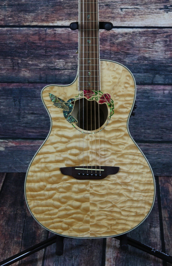 Luna Acoustic Electric Guitar Guitar Only Luna Left Handed Fauna Hummingbird Acoustic Electric Guitar