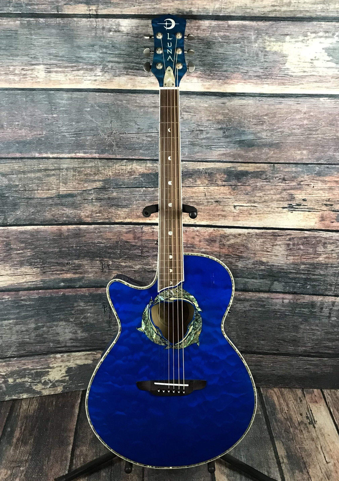 Luna Acoustic Electric Guitar Luna Left Handed Fauna Dolphin Acoustic Electric Guitar