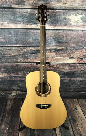 Luna Acoustic Guitar Used Luna Gypsy Muse Acoustic Guitar with Case
