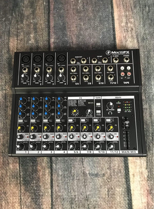 Mackie Amp Used Mackie Mix12FX 12 Channel Compact Mixer with Effects