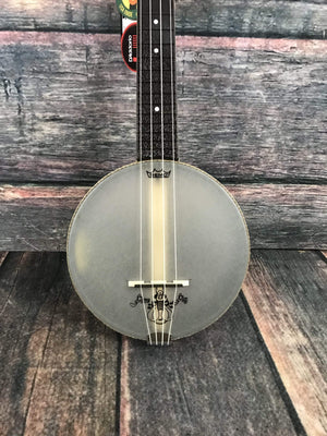Magic Fluke Company Ukelele Magic Fluke Company Left Handed M80 Soprano FireFly Banjo Ukelele- Maple