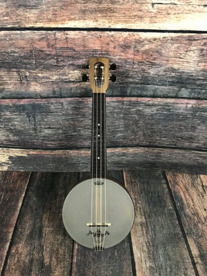 Magic Fluke Company Ukelele Magic Fluke Company Left Handed M80 Soprano FireFly Banjo Ukelele- Walnut