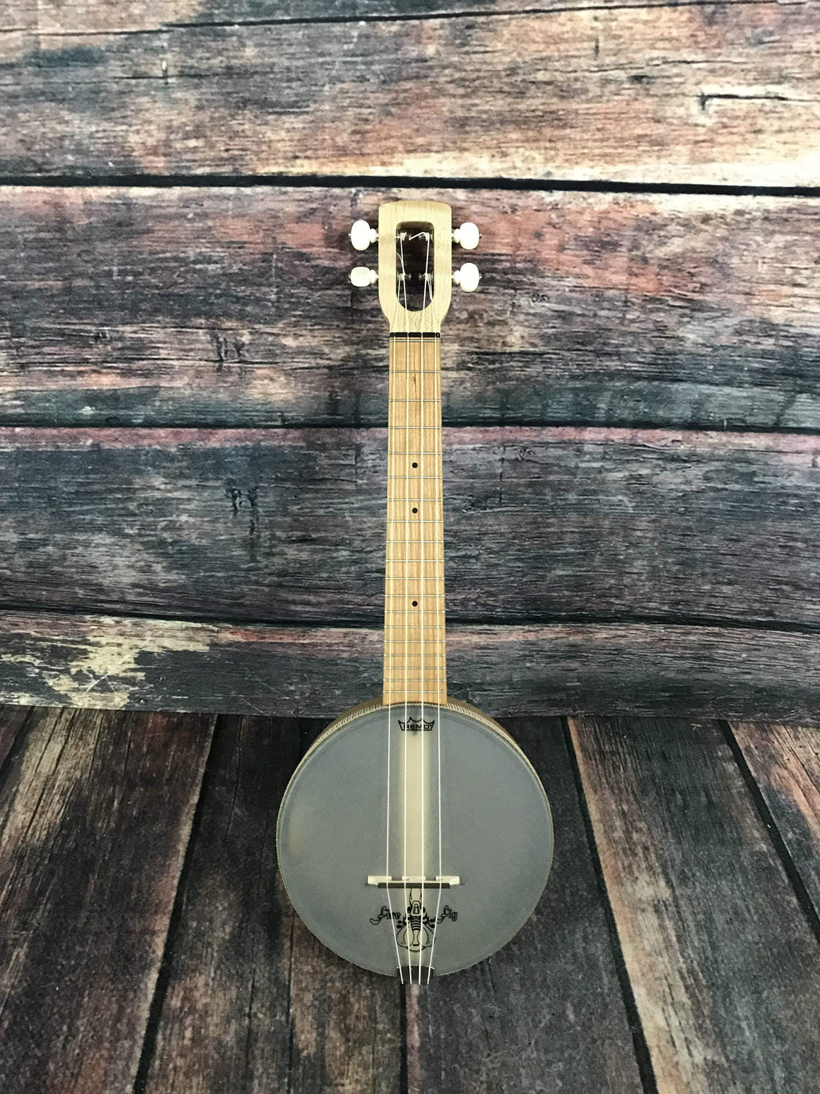 Magic Fluke Company Ukelele Magic Fluke Company Left Handed M90 Concert FireFly Banjo Ukelele- Maple