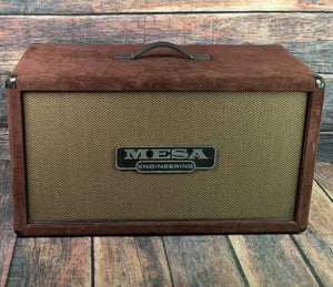 Mesa Boogie Amp Used Mesa Boogie 2x12 2FB 140w 8ohm Speaker Cabinet- Burgundy Suede