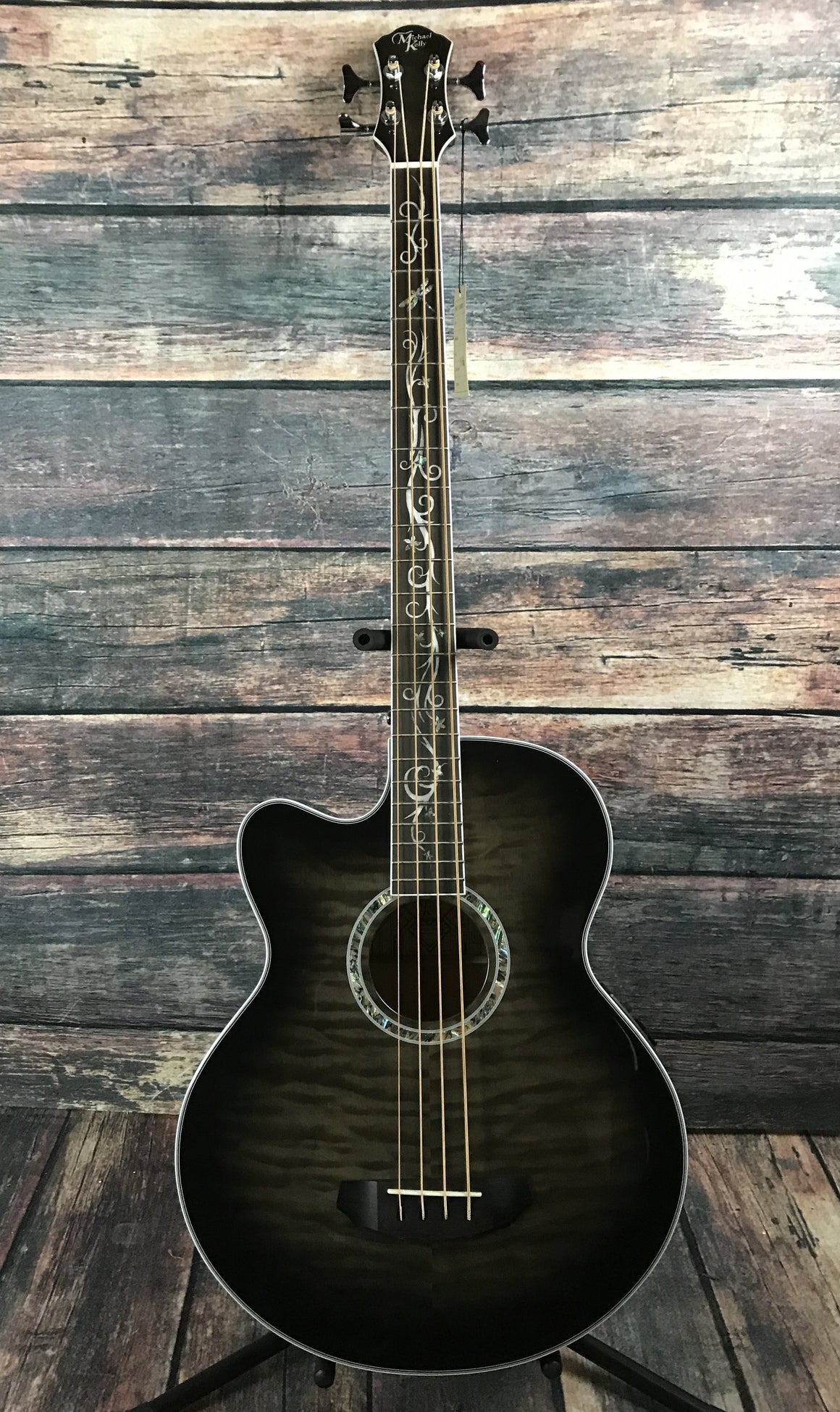 Michael Kelly Acoustic Bass Smoke Burst (Bass Only) Michael Kelly Left Handed Dragonfly 4 String Acoustic Electric Bass