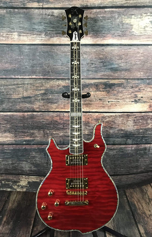 Minarik Electric Guitar Minarik Left Handed Goddess Electric Guitar- Fire Red