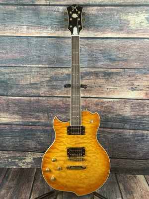 Minarik Electric Guitar Minarik Left Handed Studio Extreme Lotus Electric Guitar- Orange Sunurst