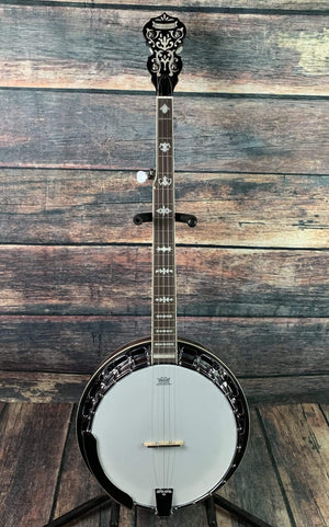 Morgan Monroe Banjo Used Morgan Monroe MB-9 Deluxe Duelington Banjo with Hardshell Case
