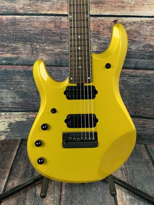 Musicman Electric Guitar Ernie Ball Music Man Left Handed John Petrucci JP7 w/ Piezo 7 String Electric Guitar- Firemist Gold