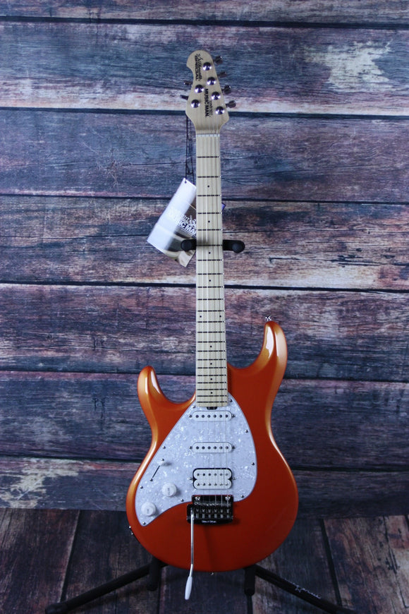 Musicman Electric Guitar Ernie Ball Music Man Left Handed Silhoutte Special Tangerine Metallic