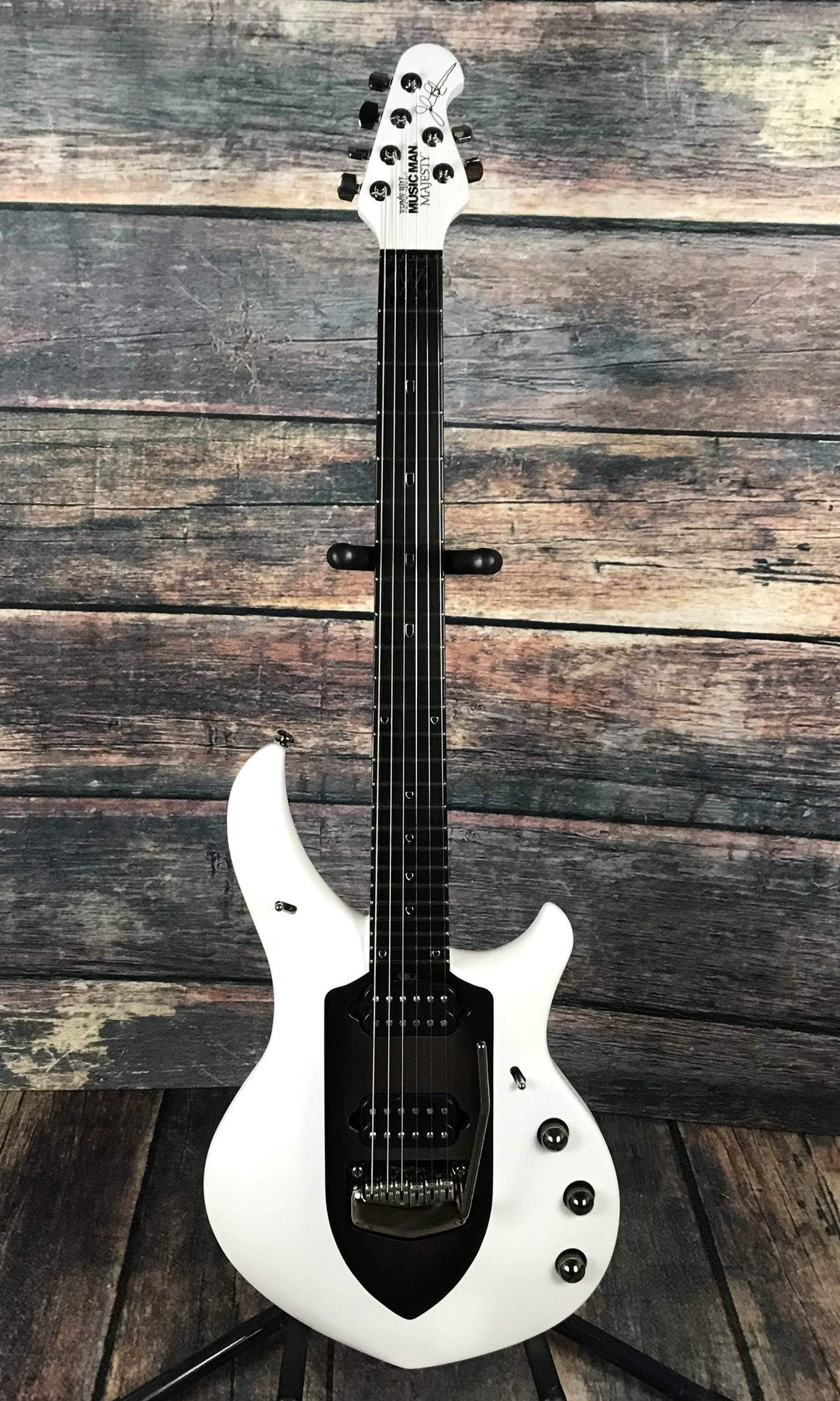 Musicman Electric Guitar Used Ernie Ball Music Man John Petrucci Majesty Satin Polar White With Case