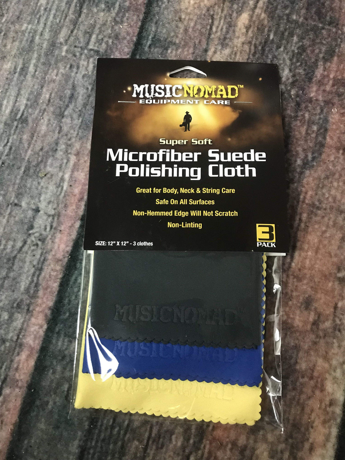 MusicNomad Maintenance Music Nomad MN203 3 Pack of Super Soft Edgeless MicroFiber Guitar Detailing Towel