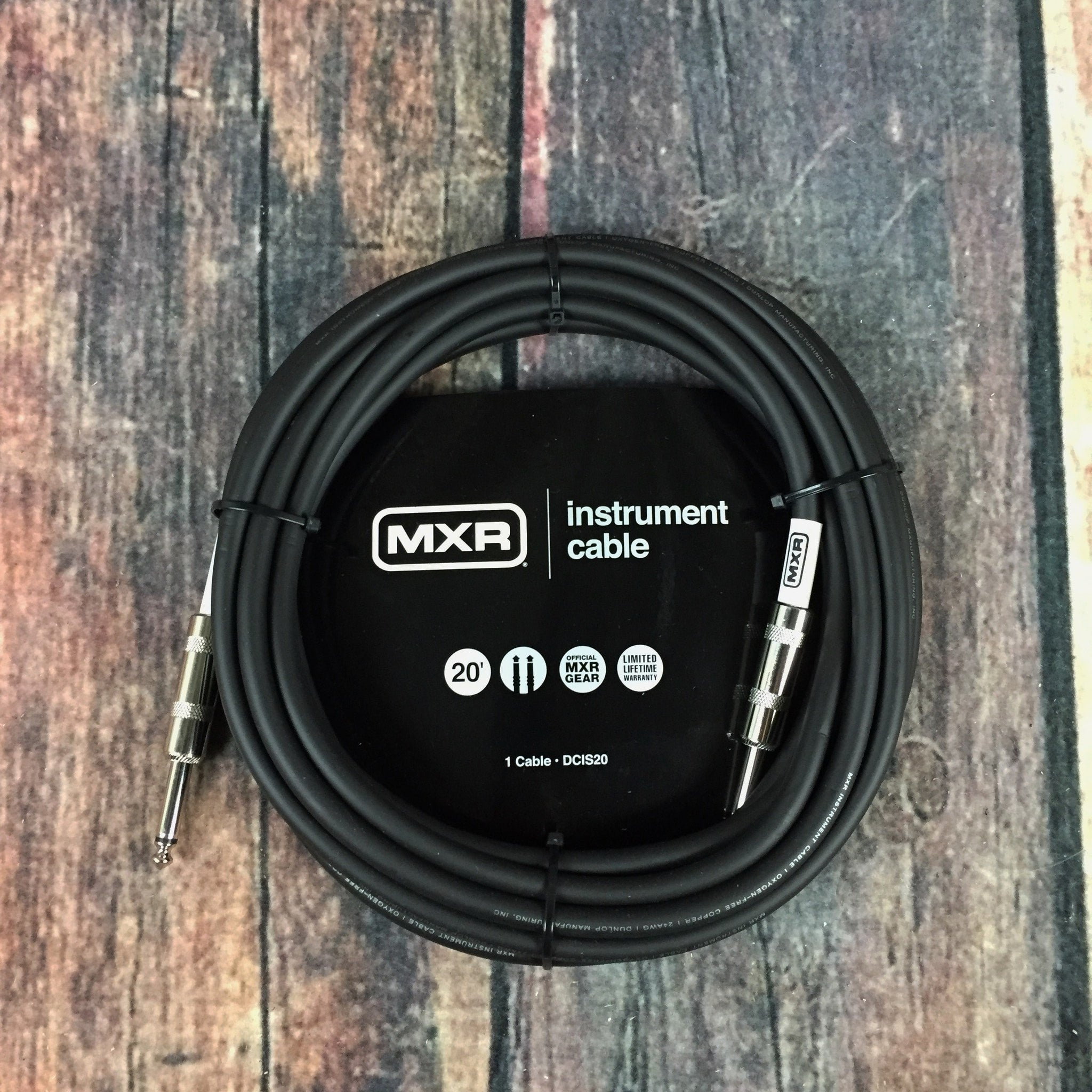 MXR DCIS20 20ft Straight to Straight Instrument Cable - Adirondack ...