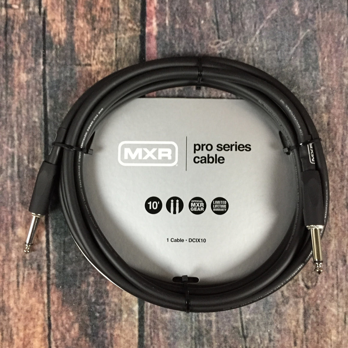 MXR Cable MXR DCIX10 Pro Series 10ft Straight to Straight Instrument Cable