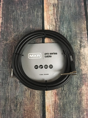 MXR cable MXR DCIX20R Pro Series 20ft Straight to Right Angle Instrument Cable