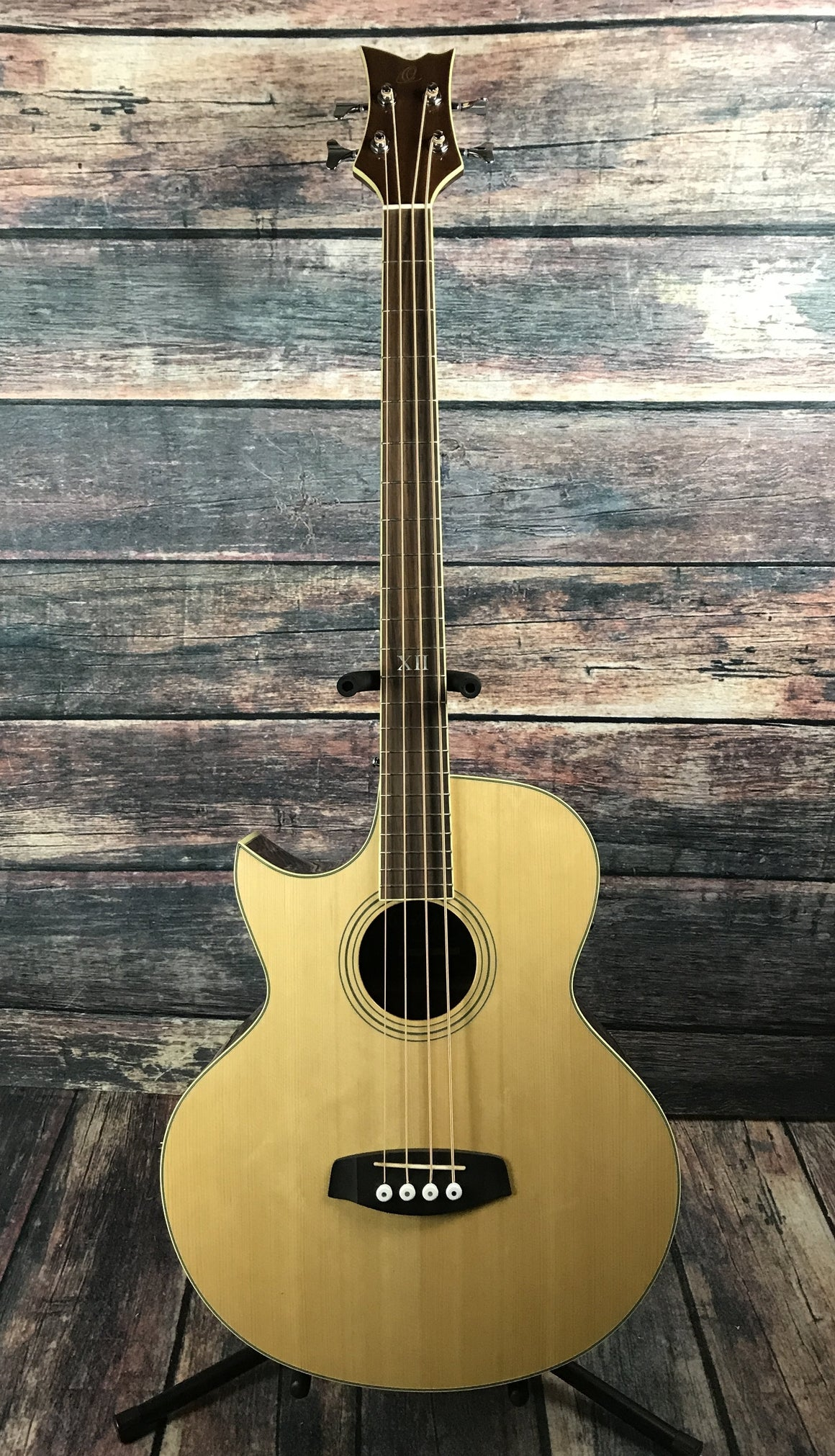 Ortega Acoustic Bass Ortega Left Handed D1-4LE-NAT Acoustic Electric Bass Guitar