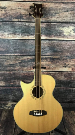 Ortega Acoustic Bass Ortega Left Handed D1-5LE-NAT 5 String Acoustic Electric Bass Guitar- Natural