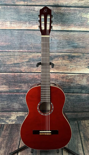 Ortega Classical Guitar Ortega Left Handed R121LWR Classical Guitar- Wine Red