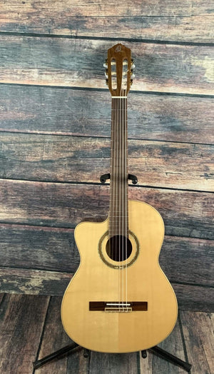 Ortega Classical Guitar Ortega Left Handed RCE138-L Slim Neck Acoustic Electric Cutaway Classical Guitar