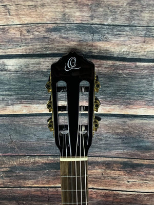 Ortega Classical Guitar Ortega RCE138-T4BK-L RCE138 Feel Series Thin Line Acoustic Electric Cutaway Classical Guitar- Black