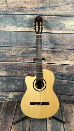 Ortega Classical Guitar Used Ortega Left Handed RCE138-L Slim Neck Acoustic Electric Cutaway Classical Guitar with Bag