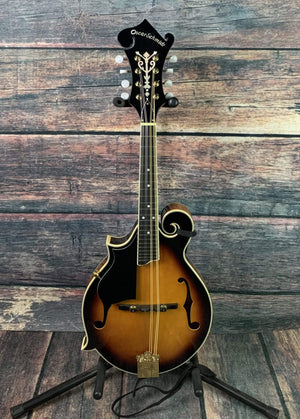 Oscar Schmidt Mandolin Used Oscar Schmidt Left Handed OM40 F Style Mandolin with Strap and Gig Bag