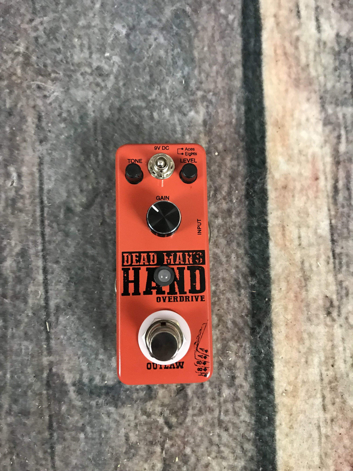 Outlaw Effects pedal Used Outlaw Effects Dead Mans Hand Overdrive Pedal with Box