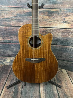 Ovation Acoustic Electric Guitar Used Ovation Celebrity Standard Plus CS24P Natural KOA witg Gig Bag