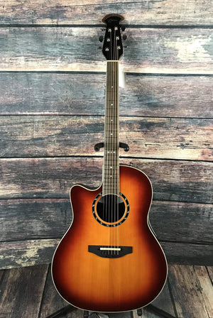 Ovation Acoustic Guitar New England Burst With Case Ovation Left Handed L771AX  Acoustic Electric Guitar- New England Burst
