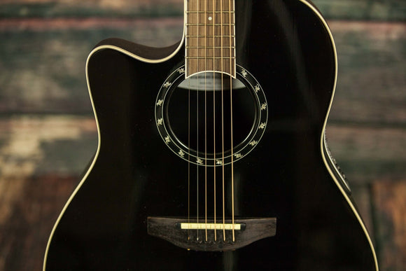 Ovation Acoustic Guitar Ovation Left Handed L771AX  Acoustic Electric Guitar- Black