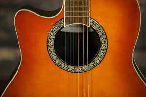 Ovation Acoustic Guitar Ovation Left Handed LCC047  Acoustic Electric Guitar