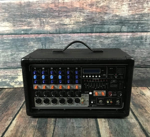 Used Peavey PVI6500 400w 6 Channel PA Head with 2 Mics, 2 Stands, and 2 Mic Cables