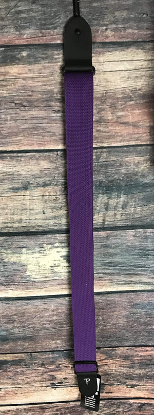 "Perri''s Leathers Strap Perri's CWS20-1683 2"" Cotton Adjustable Strap- Purple"