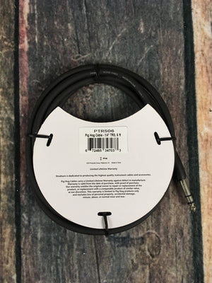 "Pig Hog adapter Pig Hog PTRS06 6ft 1/4"" TRS - 1/4"" TRS Cable Adapter"