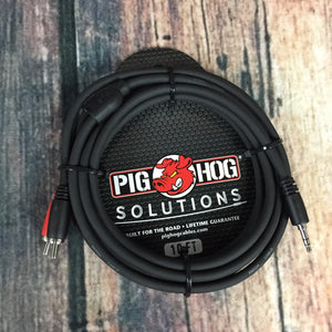 Pig Hog adapter Pig Hog Solutions PB-S3R10 10ft Stereo Breakout Cable, 3.5mm to Dual RCA Adapter