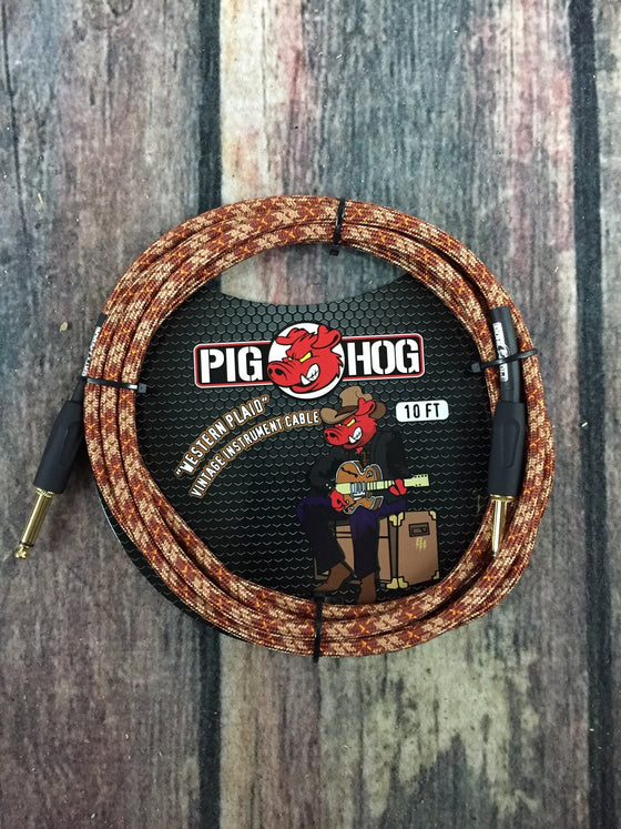 Pig Hog Cable Pig Hog PCH10CP 10ft Western Plaid Straight to Straight Instrument Cable