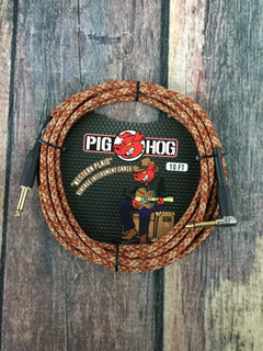 Pig Hog Cable Pig Hog PCH10CPR 10ft Western Plaid Straight to Right Angle Instrument Cable