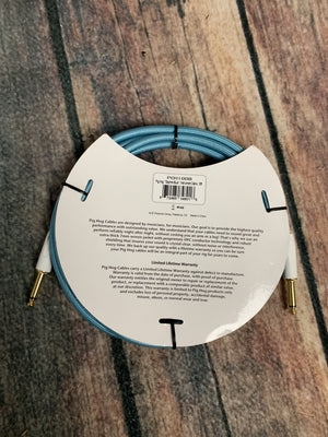 Pig Hog Cable Pig Hog PCH10DB 10ft Daphne Blue Straight to Straight Instrument Cable