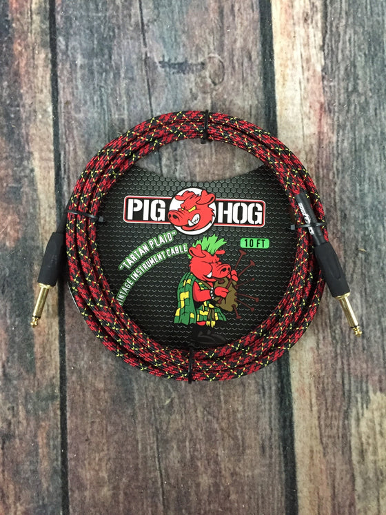 Pig Hog Cable Pig Hog PCH10PL 10ft Tartan Plaid Straight to Straight Instrument Cable