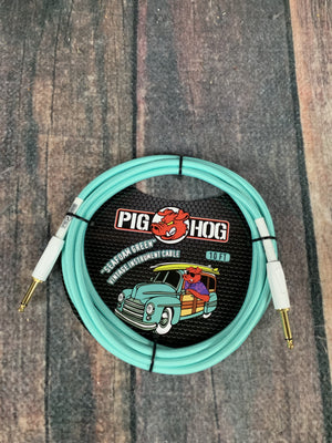Pig Hog Cable Pig Hog PCH10SG 10ft Seafoam Green Straight to Straight Instrument Cable