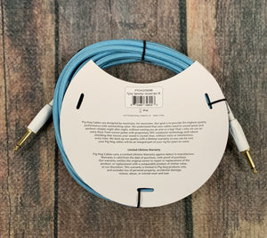 Pig Hog Cable Pig Hog PCH20DB 20ft Daphne Blue Straight to Straight Instrument Cable