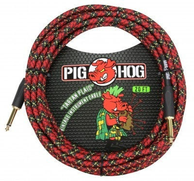 Pig Hog Cable Pig Hog PCH20PL 20ft Tartan Plaid Straight to Straight Instrument Cable