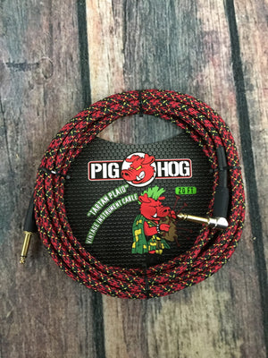 Pig Hog Cable Pig Hog PCH20PLR 20ft Tartan Plaid Straight to Right Angle Instrument Cable