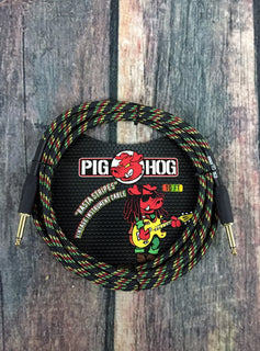 "Pig Hog Cable Pig Hog Rasta PCH10RA 10ft Straight to Straight 1/4"" Instrument Cable"